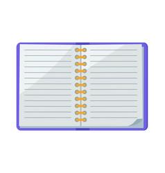 open spiral copybook icon vector image