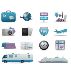 travel background concept vector image vector image