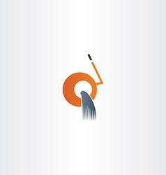cement mixer machine icon vector image
