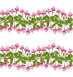 fuchsia seamless pattern vector image vector image