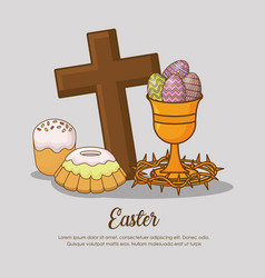 happy easter day design vector image vector image