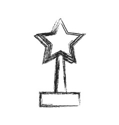 star trophy win prize sketch vector image