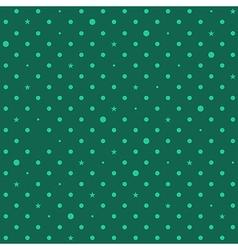 Green Star Polka Dots Background vector image