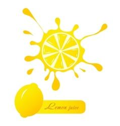Lemon juice vector image