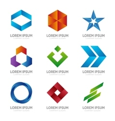 Set of abstract logo design template Abstract vector image
