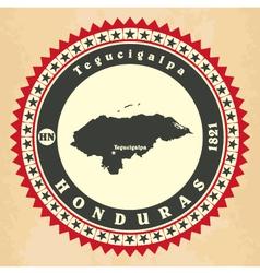 Vintage label-sticker cards of honduras vector