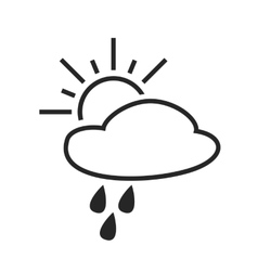 Scattered shower Rain with sun Day Weather vector image