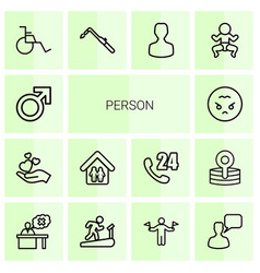 14 person icons vector