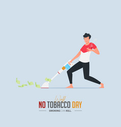 1may 31st world no tobacco day poster design vector