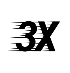 3x sign icon vector image