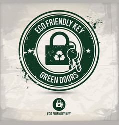 alternative eco key stamp vector image