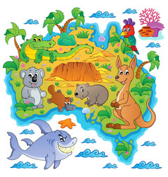 Australian map theme image 3 vector