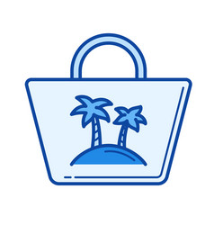 beach bag line icon vector image