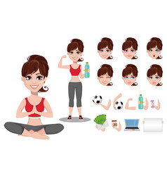 Beautiful woman in sport outfit vector