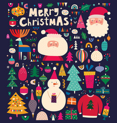 big christmas collection vector image