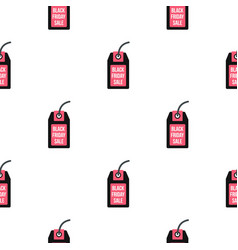 Black friday sale tag pattern flat vector