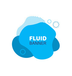 blue fluid background abstract doodle banner vector image