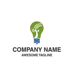 bulb lamp logo vector image