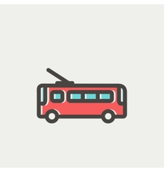 Bus thin line icon vector