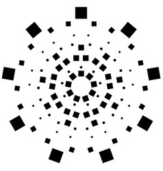 Circular element made of squares squares rotating vector