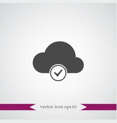 Cloud computing icon simple vector