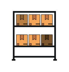 Color image cartoon black shelf with sealed vector