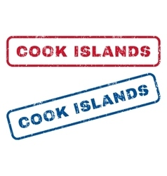 Cook Islands Rubber Stamps vector