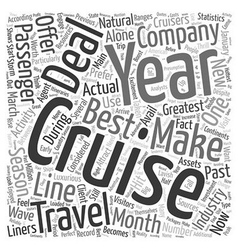 Cruise deals Word Cloud Concept vector