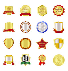 design emblem and badge sign set of vector image