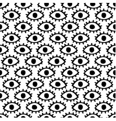 Doodle eyes seamless pattern vector