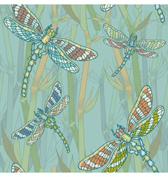 dragonfly seamless vector image