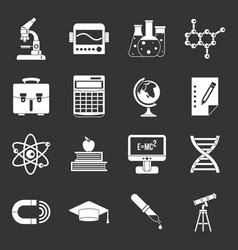 education icons set grey vector image
