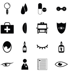 Eye doctor icon set vector