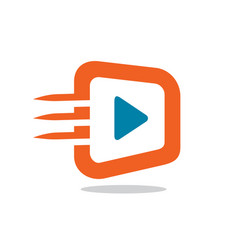 fast video icon or logo vector image