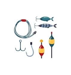 Fishing line Sopinner And Hooks vector