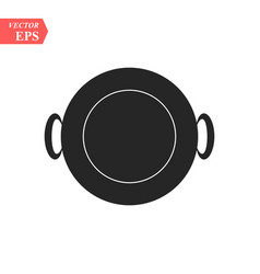 Frying pan icon concept for design eps10 vector
