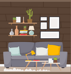furniture room interior design apartment vector image