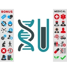 Genetic Analysis Icon vector image