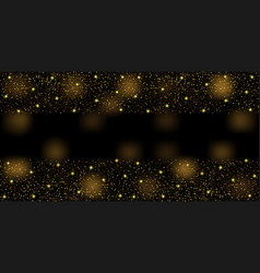 greeting web banner with gold glitter vector image