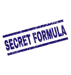 Grunge textured secret formula stamp seal vector