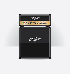 Guitar amplifier set vector