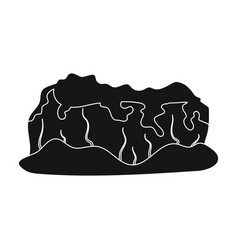 high green mountainsmountains covered with vector image