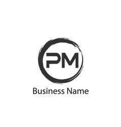 Initial letter pm logo template design vector