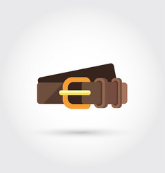 Leather belt vector