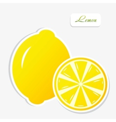 lemon sticker vector image vector image
