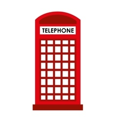 London telephone cab isolated icon design vector