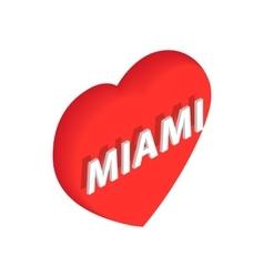 Love Miami icon isometric 3d style vector image