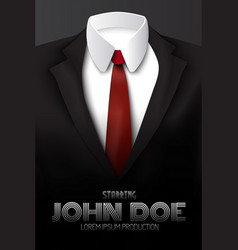 male business suit advertising poster vector image