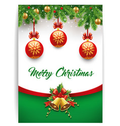 Merry christmas background with calligraphy text vector