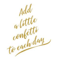 motivational handwritten golden glitter quote vector image